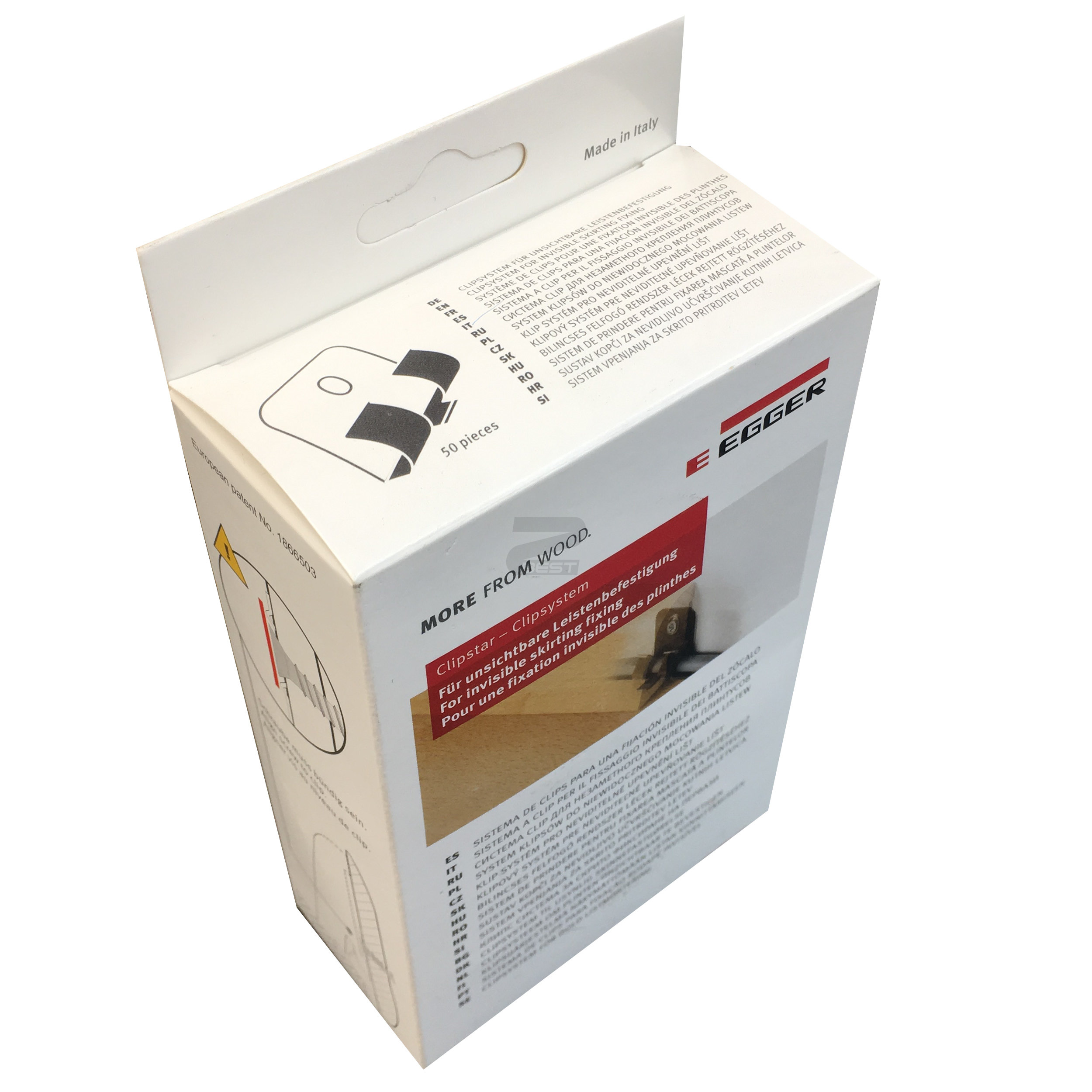 Упаковка крепежа Egger